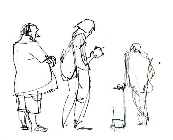 gesture drawings airport